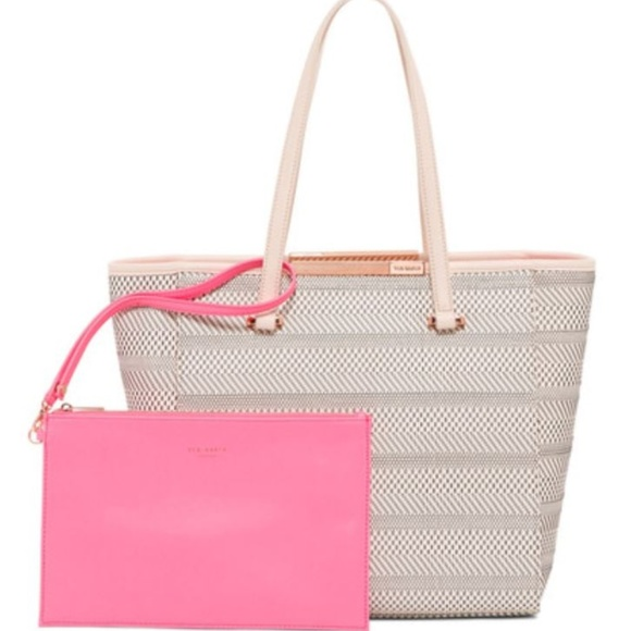 a13fae5bc0 Ted Baker London Bags | New Ted Baker Woven Tote Wpink Makeup Bag ...